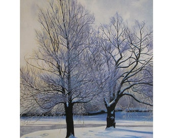 Snow and Shadow Giclee Print