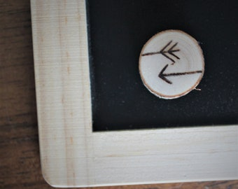 Arrows, pyrography, magnet, fridge, table, end of the year, teacher gift, teacher, log, wood, handmade