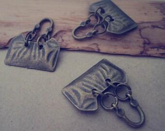 10pcs  Antique bronze purse Pendant charm 15mmx23mm