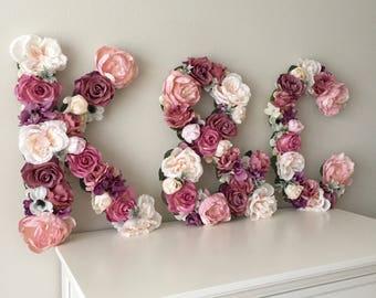 Wedding Decor, Flower Monogram, Floral Letter, Flower Letter, Bridal Letter, Wedding Monogram, Custom Flower Initials, Head Table Monogram
