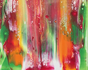 Candyman, abstract, fluid acrylic painting, on deep edge canvas