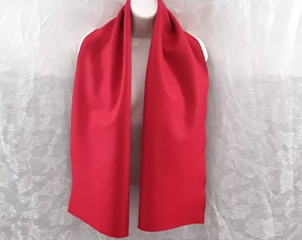 Tango Red Felted Wool Scarf