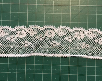 NEW! Delicate white cotton edging lace. 3.5cm #4301 Wedding sewing clothing lingerie millinery toys costume