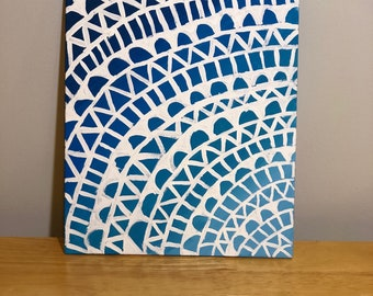 Original painting- Blue Ombré Mandala