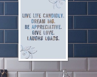Live life candidly