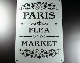 Template Paris Flea Market lettering Ornament-BS02