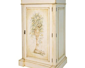 French Hand-Painted Cabinet / Armoire / Storage / Laundry / Pantry