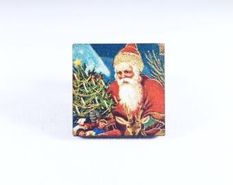 Santa Pin, Christmas Pin, Santa Claus Pin, Kris Kringle, Father Christmas, Vintage Christmas, Christmas Gift, Gift for Her