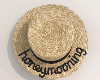 Bespoke Oxford Boater Hat - narrow brim