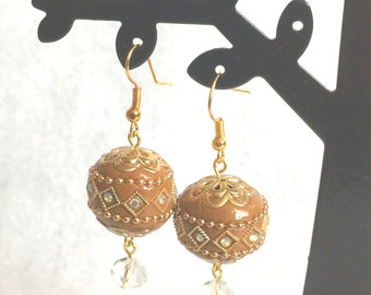 "Earrings ""Moroccan style - brown"""