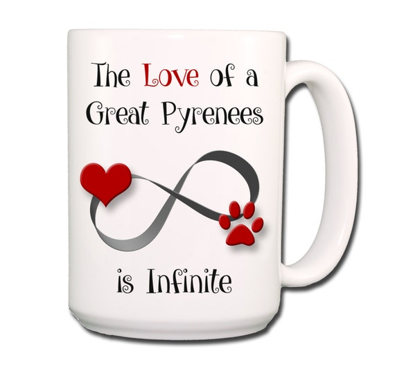 Great Pyrenees Infinite Love Large 15 oz Coffee Mug