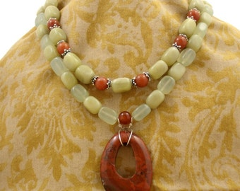 Red Jasper with Serpentine