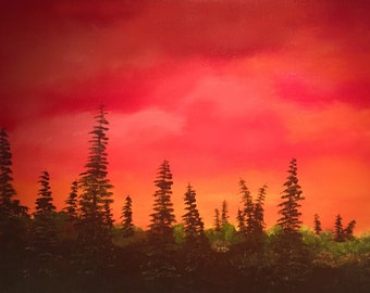Over the Sunrise - Oil Painting - 24 x 36 inches canvas