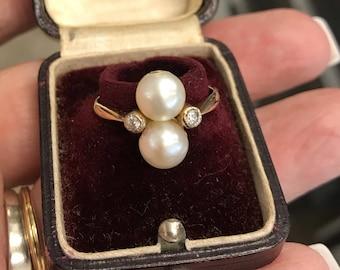 Mikimoto Twin Pearl Ring