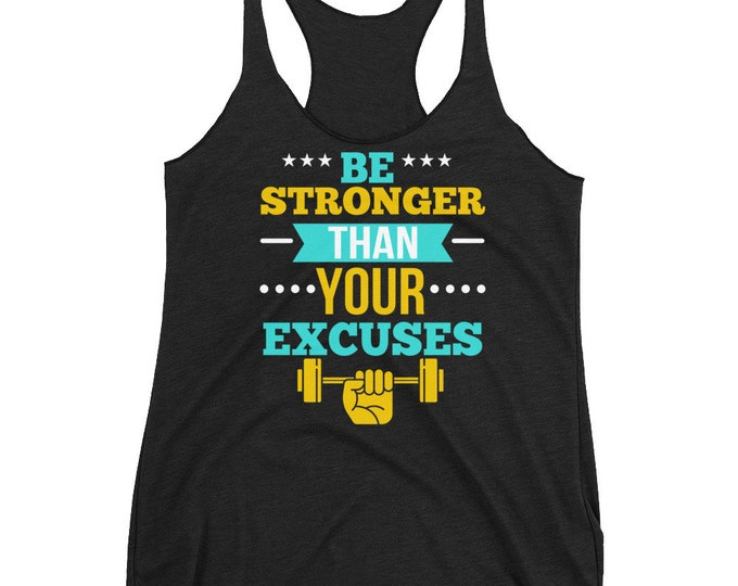 Motivation Workout Tank Top | Fitness Women's Racerback Tank | Gym Tank Tops | Work out shirt | Workout Clothes | Womens Workout Tank