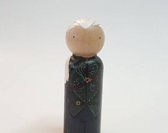 Legolas Elf Peggies by Steph Handpainted Wooden Pegdoll (CLEARANCE)