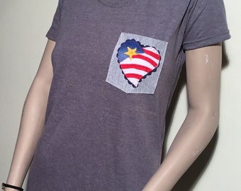 Four of July Pocket Shirt | Four of July Tee | Pocket Tee | Pocket Tshirt | Womens Pocket | Mens Packets Tshirt | Four of July Pocket Tee