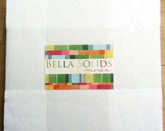 SPRING SALE - Bella Solids White - Layer Cake - by Moda Fabrics - Color SKU 9900 98
