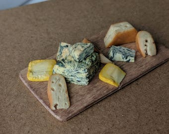 Polymer Clay Miniature Cheese