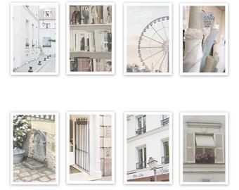 Paris Postcard Set, Cream 4x6 Prints, Paris Print Art Postcards, Paris Art, Office, Gifts, Paris, Hidden Paris, Student Gift, Parisian