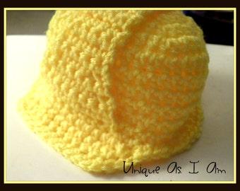 Crochet Baby 'Hard Hat' Pattern - Newborn, 0-3 Months, 3-6 Months