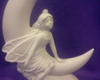 "Moon Fairy 8"" Ceramic Bisque Ready To Paint"