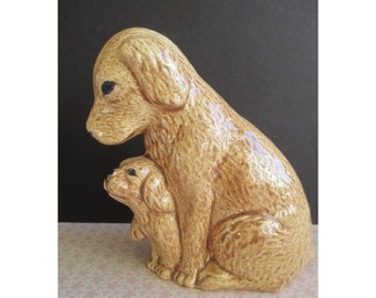 Mother LABRADOR DOG With Puppy Figurine
