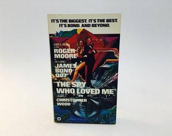 Vintage Pop Culture Book The Spy Who Loved Me Film Novelization 1977 Paperback
