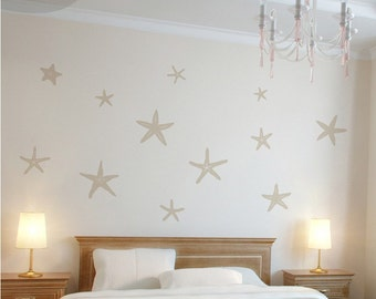 Stunning Starfish - Set of 12 -  Vinyl Wall Decal