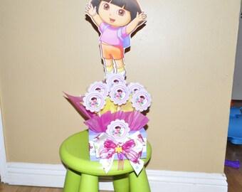 Dora the Explorer Centerpiece with Lollypops.