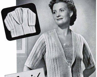 Women's Lacy Bed Jacket with matching baby jacket Knitting Pattern PDF / Bed jacket knitting pattern / Nursing jacket