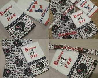 Houston Texans Burp Cloth 3 Pc Sets