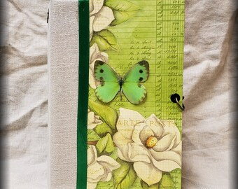 Junk Journal:  It's Spring, Hard Cover, 140 pages plus lots of extras. See description for video flip through link.