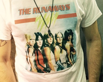 The Runaways T-Shirt. The Runaways Kim Fowley Punk Rock Trash Cherry Bomb Joan Jett Cherie Currie Lita Ford Suzi Quatro