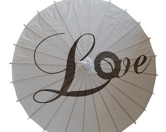 Love Wedding Paper Parasol *Second*