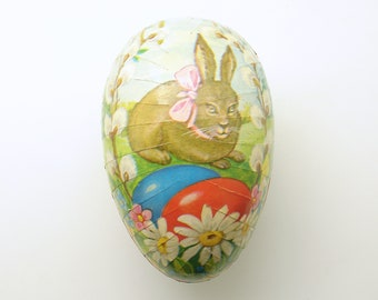Vintage Easter Egg Paper Mache Candy Container Easter Decoration Western Germany