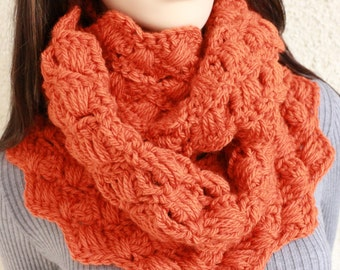 Crochet Scarf PATTERN, Chunky Scarf Pattern, Autumn Scarf, Infinity Scarf DIY For Her, Instant Download, PDF Pattern #103, Lyubava Crochet