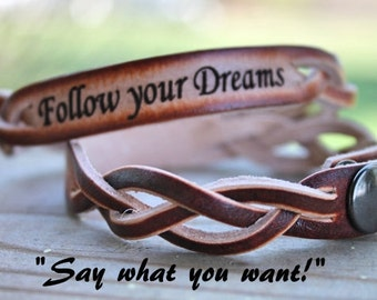 Custom Bracelet--Engraved with what you want to say!