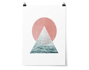 Printable Art, Geometric, Minimalist Art, Hipster Decor, Affordable Wall Art, Nursery Decor, Pink Decor, Blue Decor