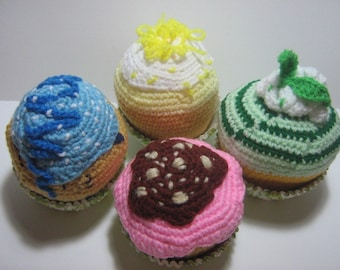 Crochet Food Pattern Cake Crochet Pattern PDF Instant Download Party Cupcakes