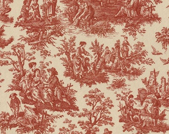 Waverly Fabric: Country Life Color Garnet (red)
