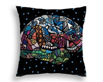 50% SALE- Human Brain Surreal Head Art Pillow -   -  Modern Abstract Folk Art by Heather Galler Medical Science Anatomy