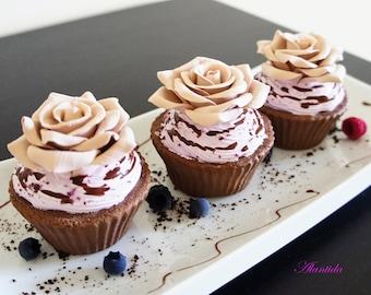 Realistic Cupcake,Fake Cupcake,Faux Cupcake for Kitchen Decor,Shower Favour,Display Dessert