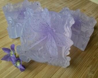 Violet Glycerin Dragonfly Soap - Vegan -
