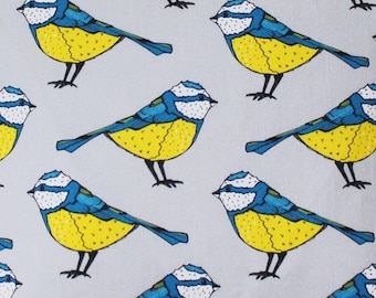 Blue Tit Fabric - fabric by the metre - upholstery fabric - curtain fabric - bird fabric - fabric by the yard - blue tit - fabric