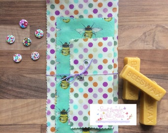 Wrappees - *Reusable Food Wraps - *Beeswax Wraps