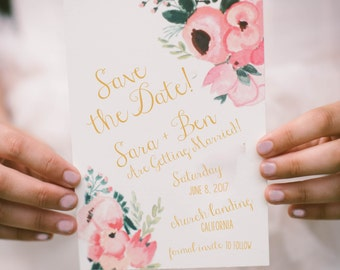 Italian Pink Bellini Save the Date | Printable Invitation Template | INSTANT DOWNLOAD