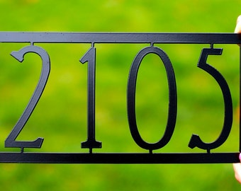 """Mission House Numbers / Art Deco House Number / Modern House numbers / 17"""" wide x 9"""" tall / Up to 5 Numbers/Letters"""