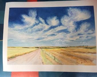 Alberta Sky Print