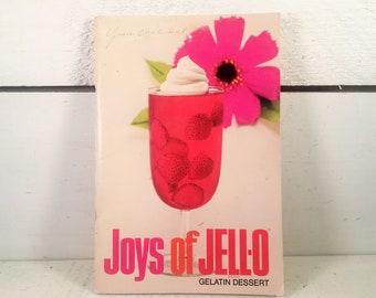 "1950ish Edition of ""Joys Of Jell-O"". Farmhouse Kitchen Collectible Jell-O Cookbook/Shabby Chic Kitchen 1950ish Gelatin Dessert Cookbook"